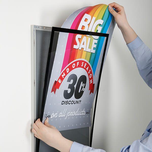magnet posterrahmen silber din a1 postermaß 12
