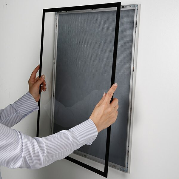 magnet posterrahmen silber din a1 postermaß 16