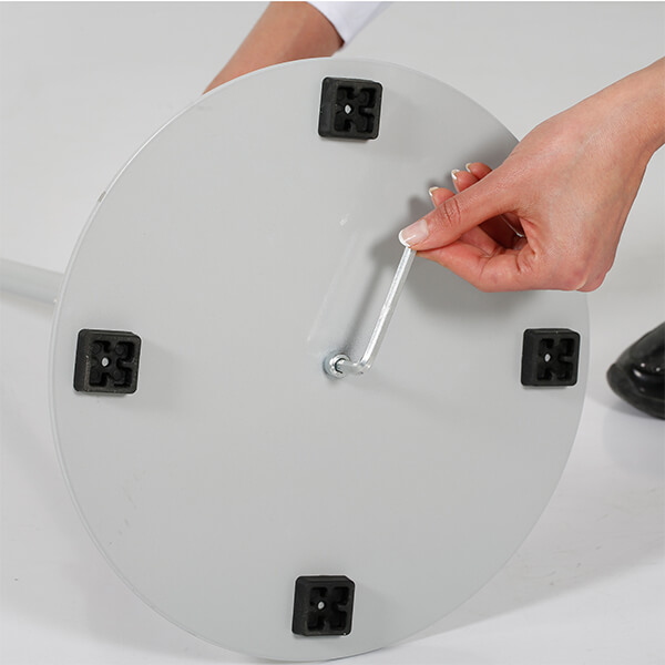 infoständer teleskop doppelseitig silber din a4 postermaß 2