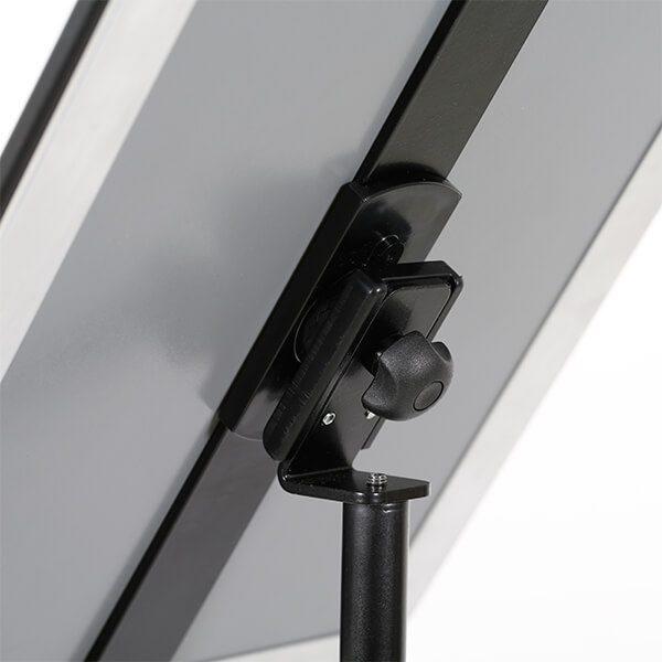 infoständer teleskop schwarz din a3 postermaß 8