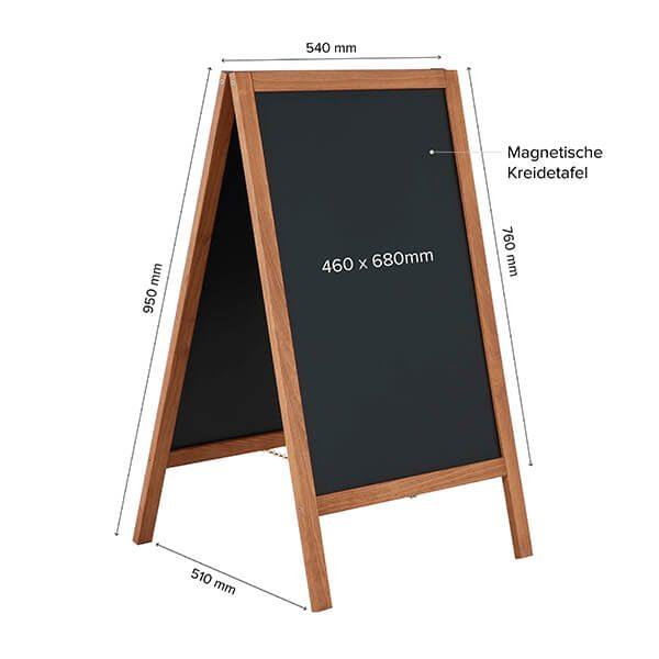 kundenstopper holz economy wetterfest 460 x 680 mm schreibfläche 1