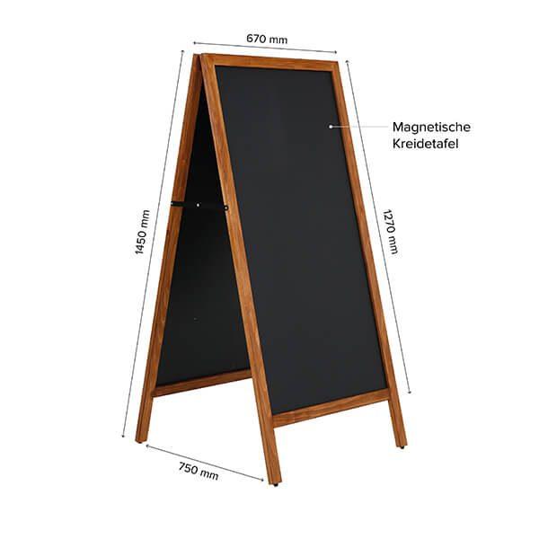 kundenstopper holz economy wetterfest 600 x 1200 mm schreibfläche 11