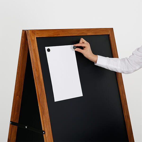 kundenstopper holz economy wetterfest 600 x 1200 mm schreibfläche 6