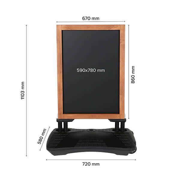 kundenstopper windpro wood 670 x 860 mm kreidetafel 7