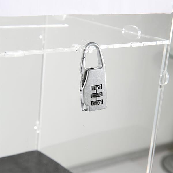 losbox ständer mit schloss 30x30x30 cm aus acryl 2