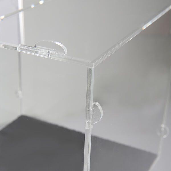 losbox ständer mit schloss 30x30x30 cm aus acryl 3