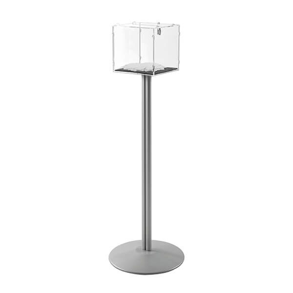 losbox ständer mit schloss 30x30x30 cm aus acryl
