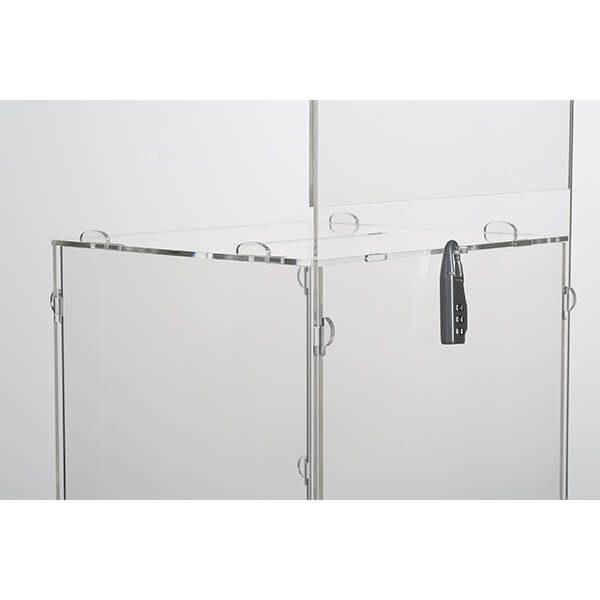losbox ständer mit topschild 21x21x21 cm aus acryl abschließbar 6