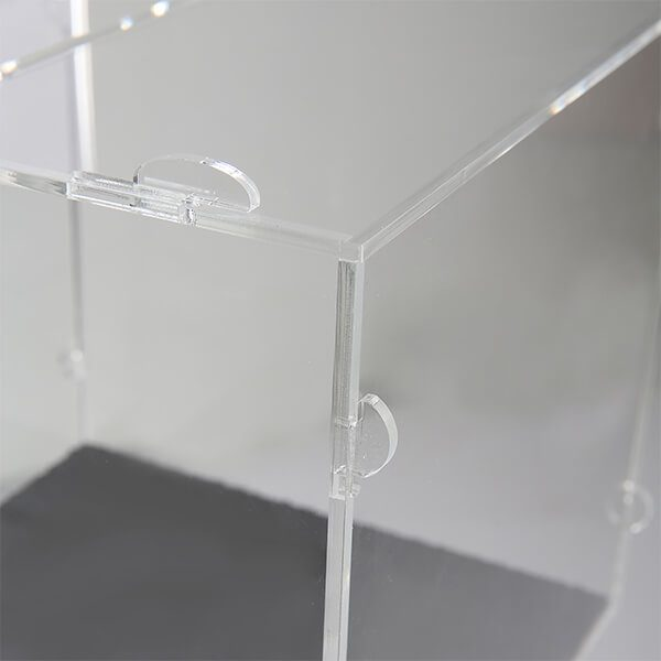 losbox ständer mit topschild 21x21x21 cm aus acryl abschließbar 7