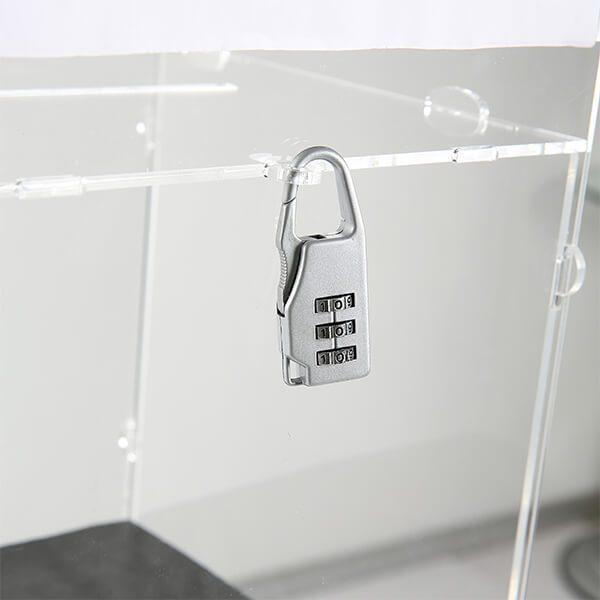 losbox ständer mit topschild 30x30x30 cm aus acryl abschließbar 2