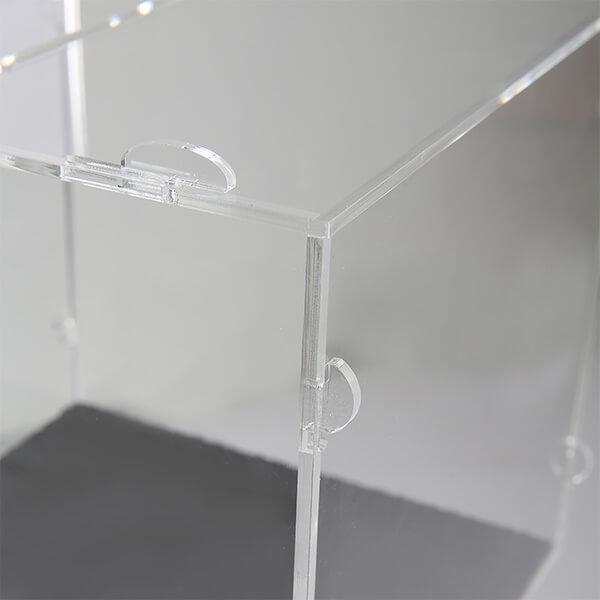 losbox ständer mit topschild 30x30x30 cm aus acryl abschließbar 5