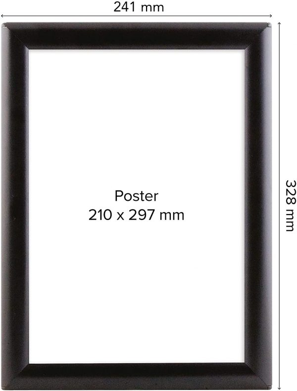 opti-frame-schwarz-a4-masse
