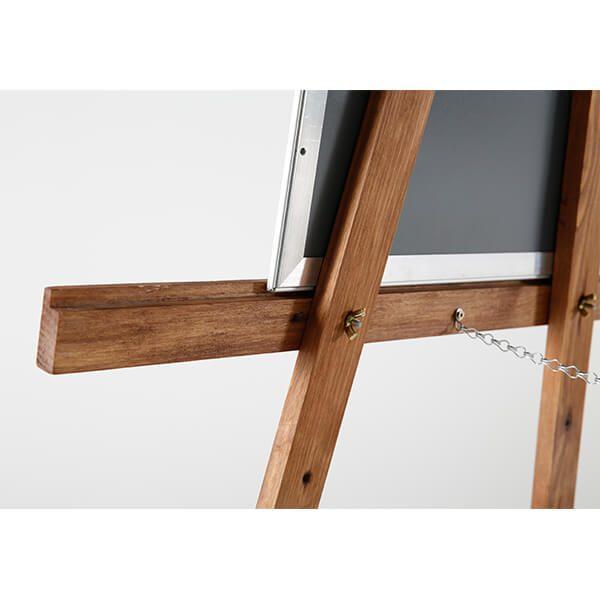 Holz Staffelei Basic dunkel lasiert Detail hinten