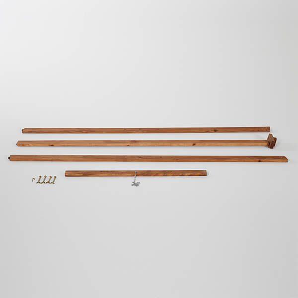 Holz Staffelei Basic dunkel lasiert unaufgebaut