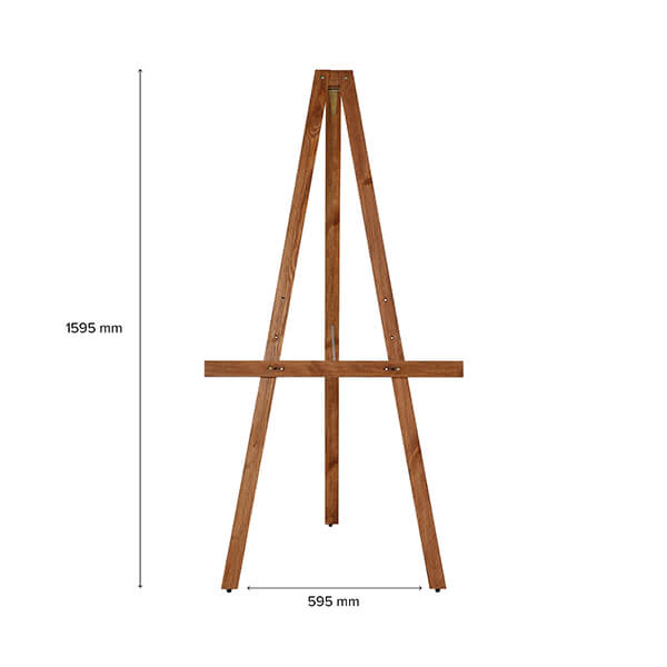 Maße Holz Staffelei Basic dunkel lasiert