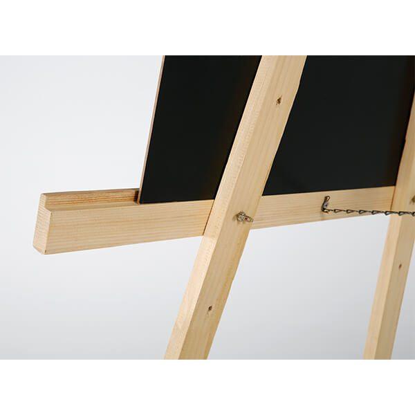 Holz Staffelei Basic Natur Detail hinten