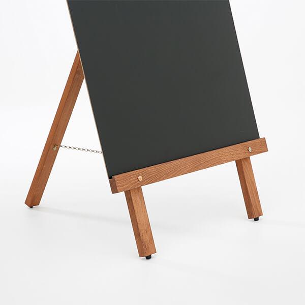kundenstopper holz basic mit kreidetafel vorne