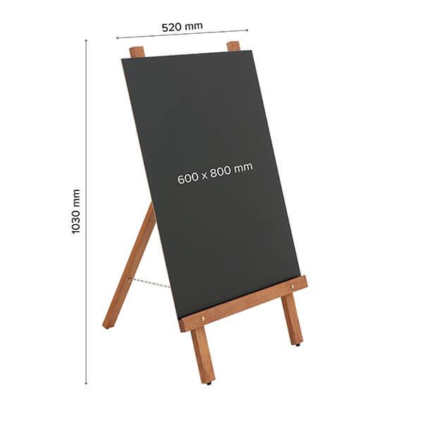 kundenstopper holz basic mit kreidetafel masse