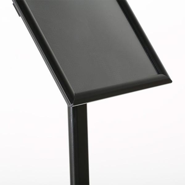 dekorativer infostaender schwarz din a3 detail