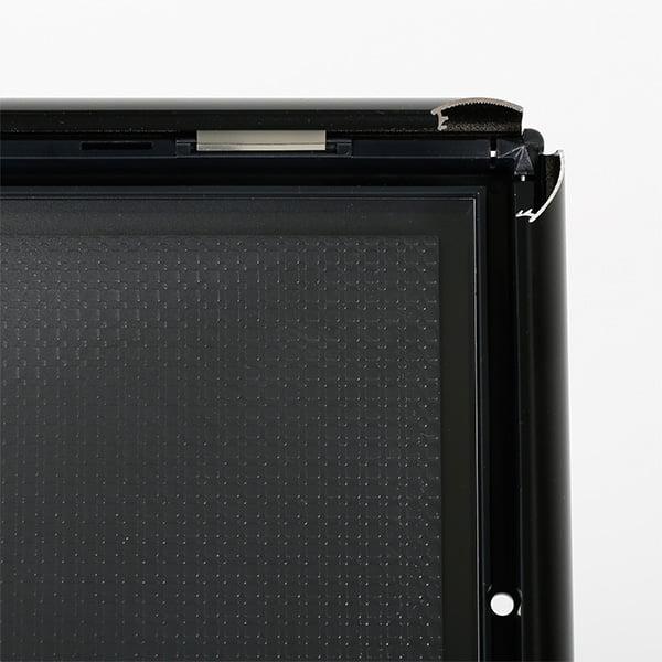 dekorativer infostaender schwarz din a3 profile