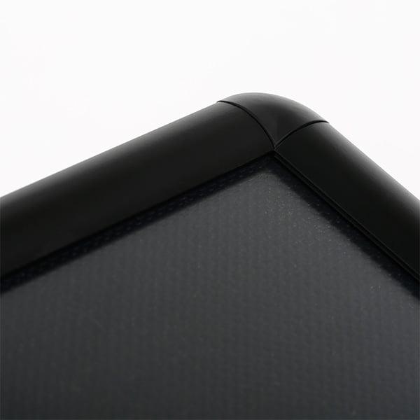 dekorativer infoständer schwarz rondo din a3 rundecken