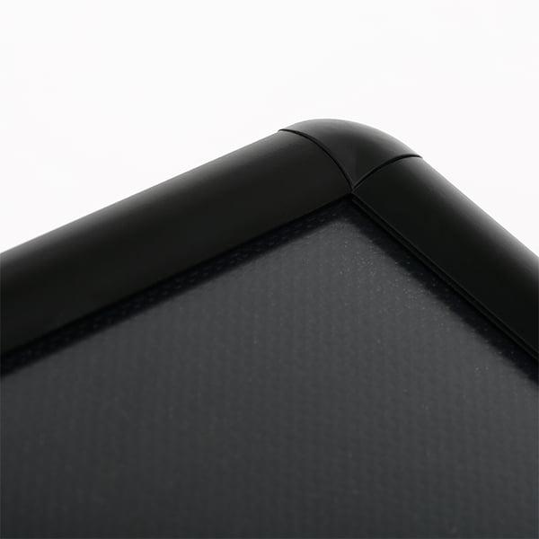 dekorativer infostaender rondo schwarz din a4 rundecken