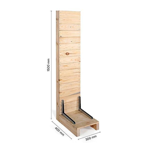 prospektstaender wood rack maße