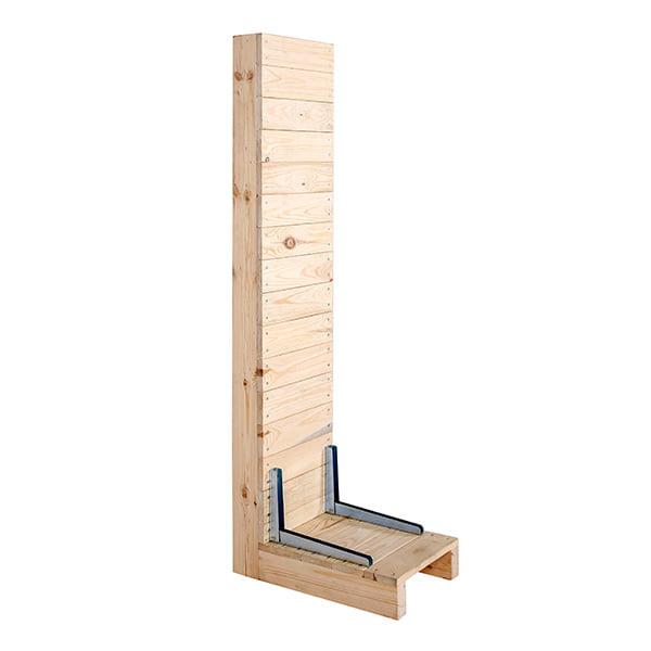 prospektstaender wood rack vollansicht