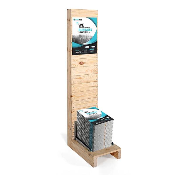 prospektstaender wood rack