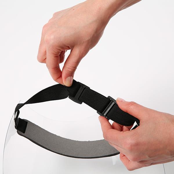 hygiene schutzvisier verstellbares kopfband