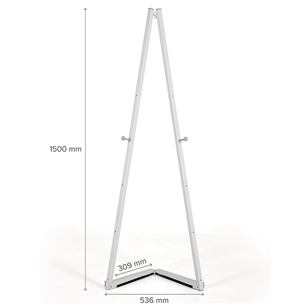 mobile staffelei aluminium weiss maße