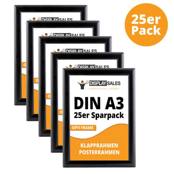 klapprahmen opti frame schwarz a3 25er pack