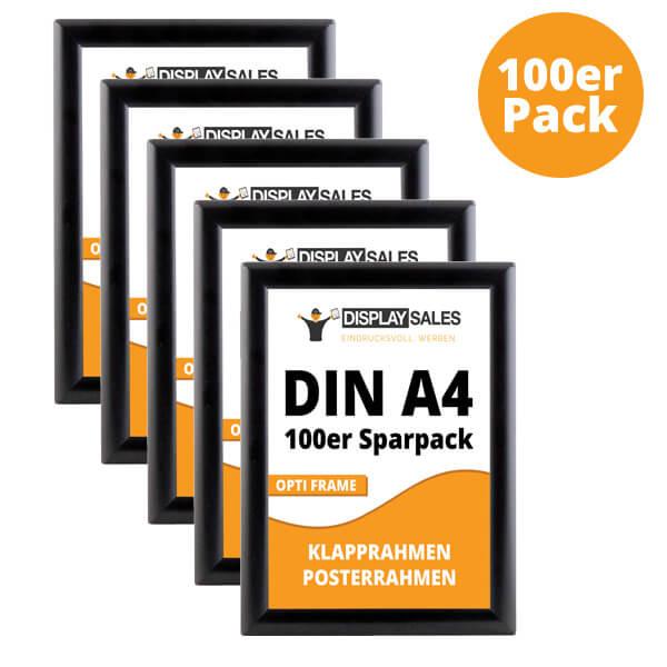 klapprahmen opti-frame schwarz a4 100er pack