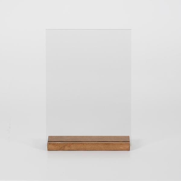 Tischaufsteller Holz DOUBLE 2