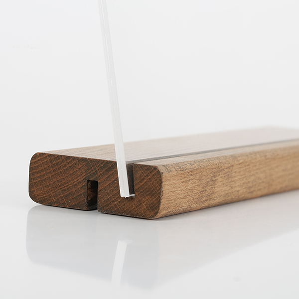 Tischaufsteller Holz DOUBLE 3