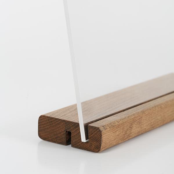 Tischaufsteller Holz DOUBLE 4
