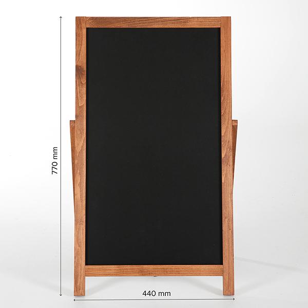 Kundenstopper Holz Floor 440x770 Bemaßung