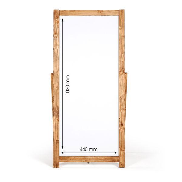 Kundenstopper Holz Floor Whiteboard 44x1020 Maße