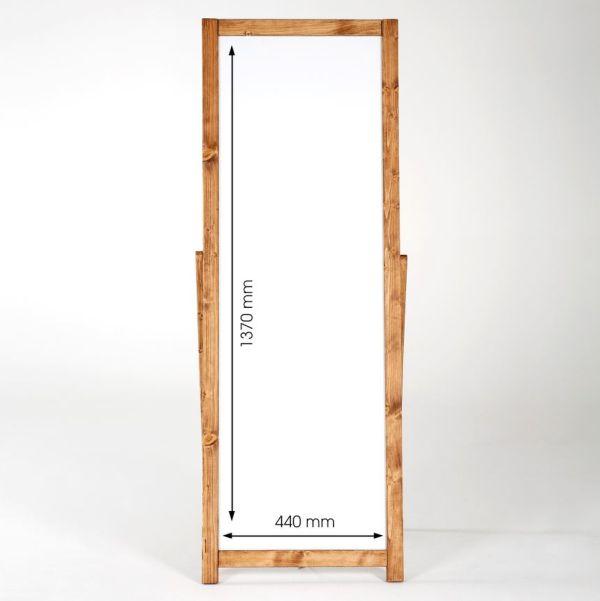 Kundenstopper Holz Floor Whiteboard 44x137 Maße