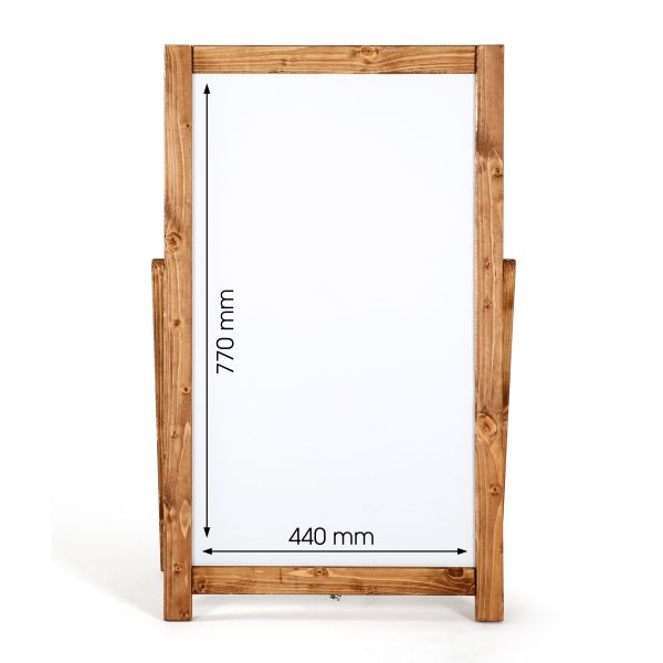 Kundenstopper Holz Floor Whiteboard 44x77 Maße